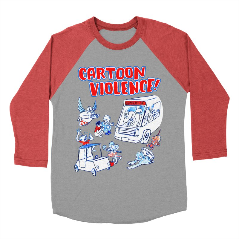 Get Ready For Cartoon Violence! Men's Baseball Triblend Longsleeve T-Shirt by Shirts by Cartoon Violence