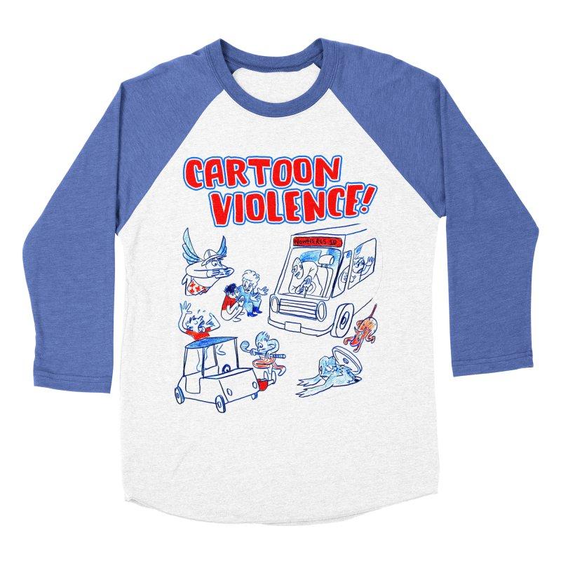 Get Ready For Cartoon Violence! Men's Baseball Triblend Longsleeve T-Shirt by Shirts by Cartoon Violence