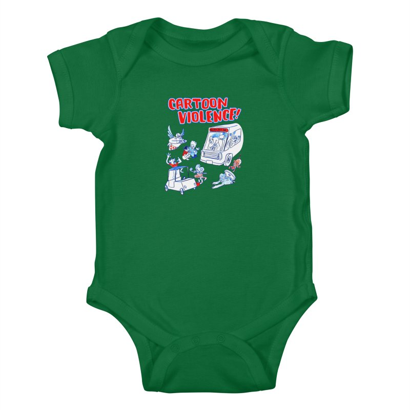 Get Ready For Cartoon Violence! Kids Baby Bodysuit by Shirts by Cartoon Violence