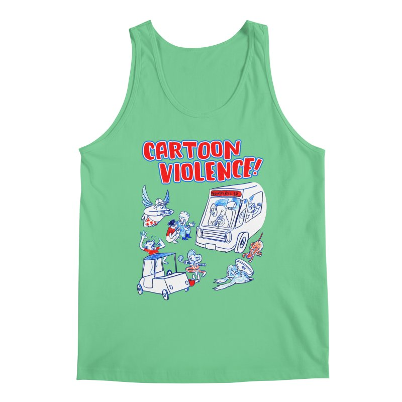 Get Ready For Cartoon Violence! Men's Tank by Shirts by Cartoon Violence