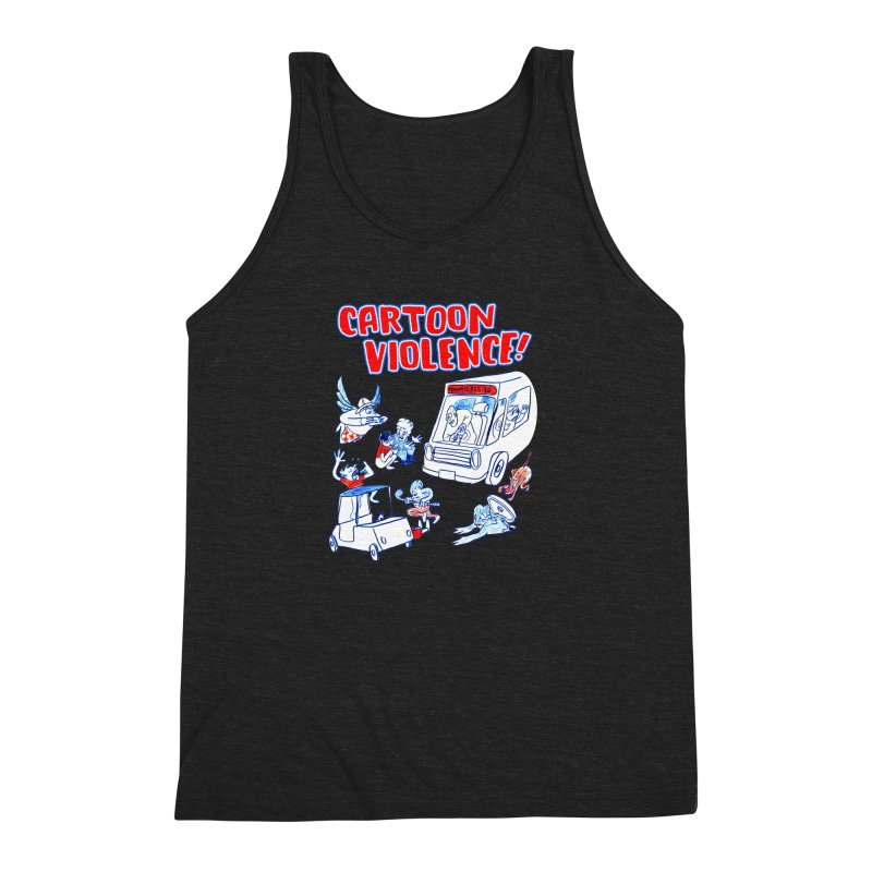 Get Ready For Cartoon Violence! Men's Triblend Tank by Shirts by Cartoon Violence