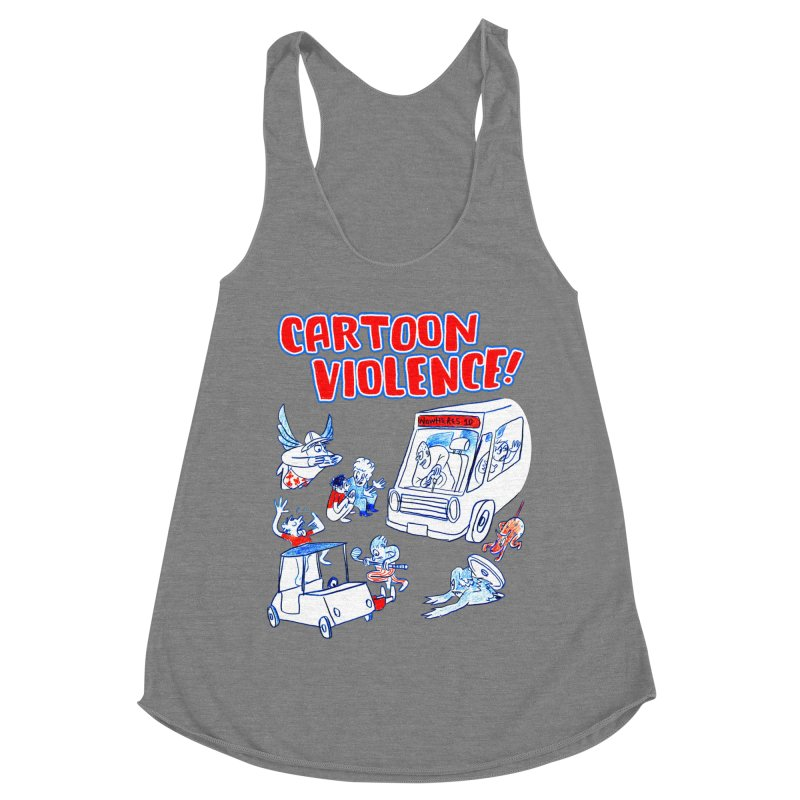 Get Ready For Cartoon Violence! Women's Tank by Shirts by Cartoon Violence
