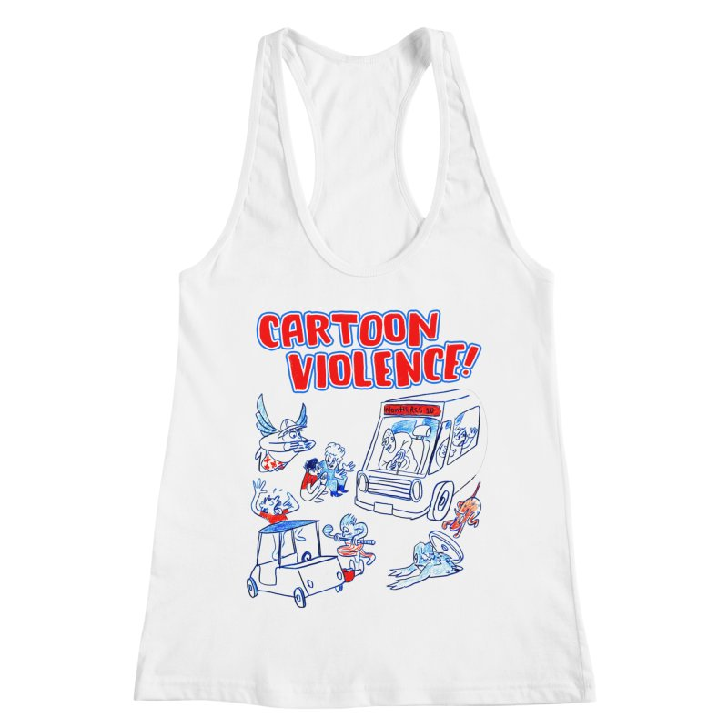 Get Ready For Cartoon Violence! Women's Racerback Tank by Shirts by Cartoon Violence