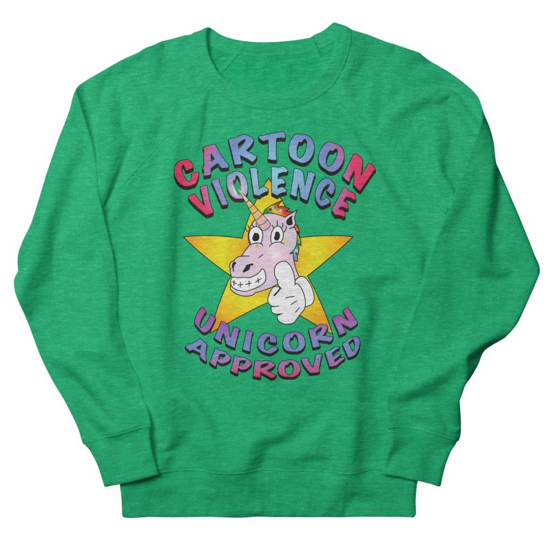 Unicorn Approved Men's French Terry Sweatshirt by Shirts by Cartoon Violence