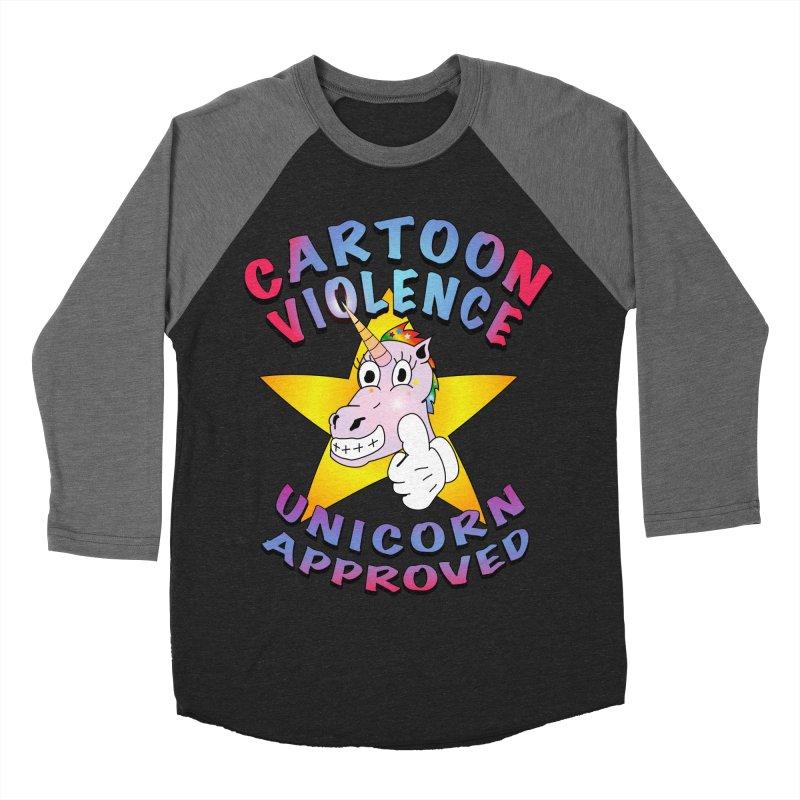 Unicorn Approved Women's Baseball Triblend Longsleeve T-Shirt by Shirts by Cartoon Violence