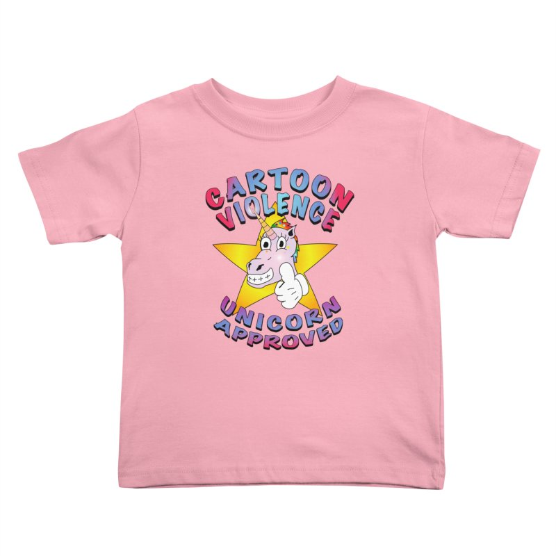 Unicorn Approved Kids Toddler T-Shirt by Shirts by Cartoon Violence