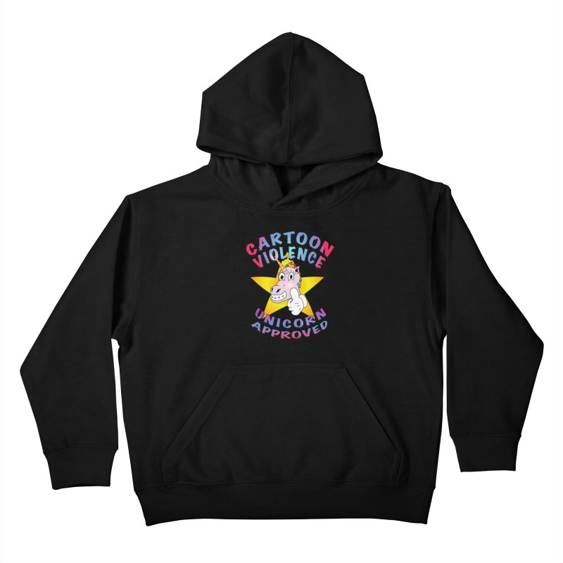 Unicorn Approved Kids Pullover Hoody by Shirts by Cartoon Violence