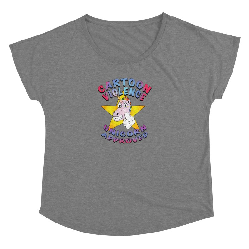 Unicorn Approved Women's Scoop Neck by Shirts by Cartoon Violence