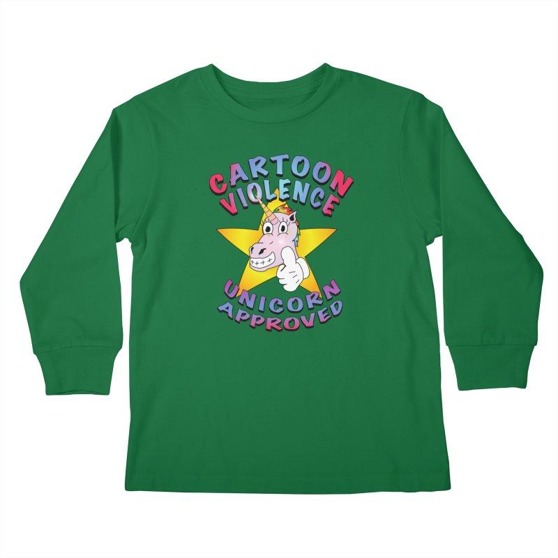 Unicorn Approved Kids Longsleeve T-Shirt by Shirts by Cartoon Violence