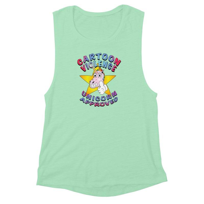 Unicorn Approved Women's Muscle Tank by Shirts by Cartoon Violence