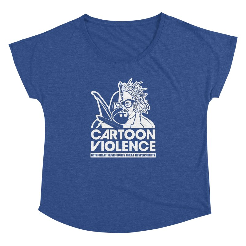 Two Face Shirt Women's Dolman Scoop Neck by Shirts by Cartoon Violence