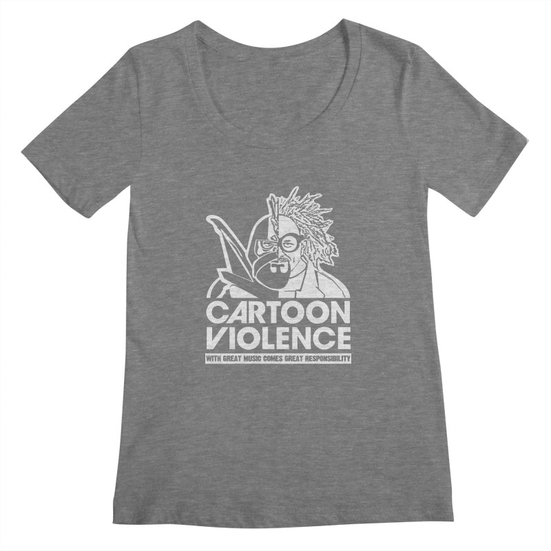 Two Face Shirt Women's Regular Scoop Neck by Shirts by Cartoon Violence