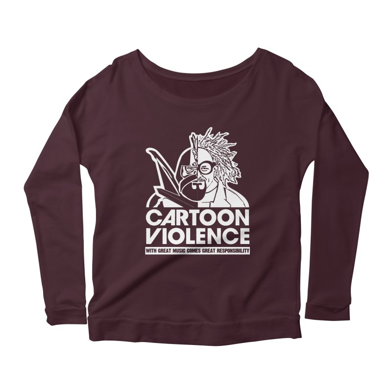 Two Face Shirt Women's Scoop Neck Longsleeve T-Shirt by Shirts by Cartoon Violence