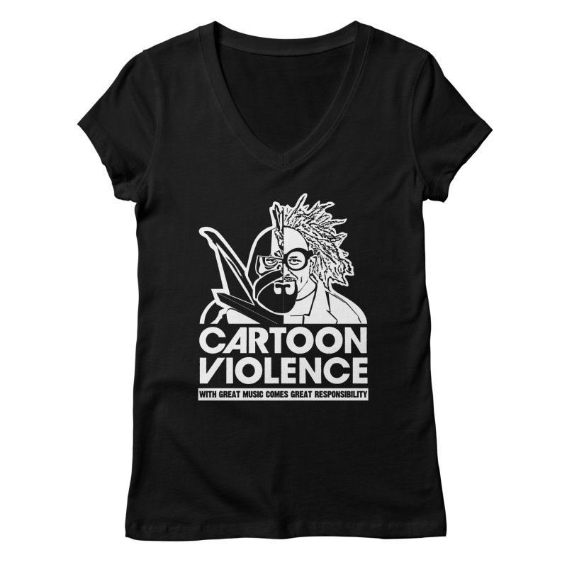 Two Face Shirt Women's V-Neck by Shirts by Cartoon Violence