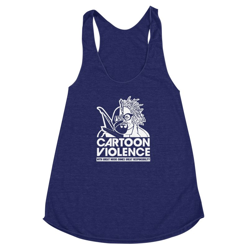 Two Face Shirt Women's Racerback Triblend Tank by Shirts by Cartoon Violence