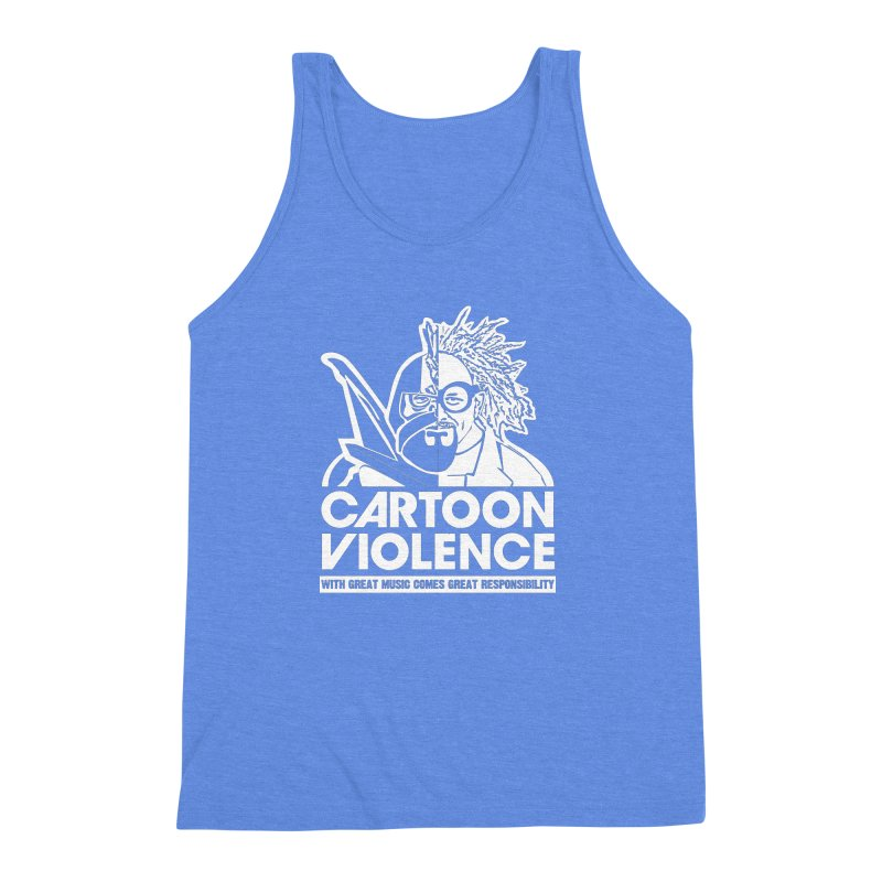 Two Face Shirt Men's Triblend Tank by Shirts by Cartoon Violence