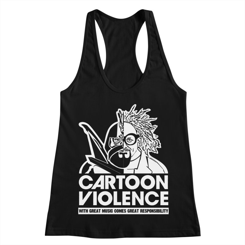 Two Face Shirt Women's Racerback Tank by Shirts by Cartoon Violence