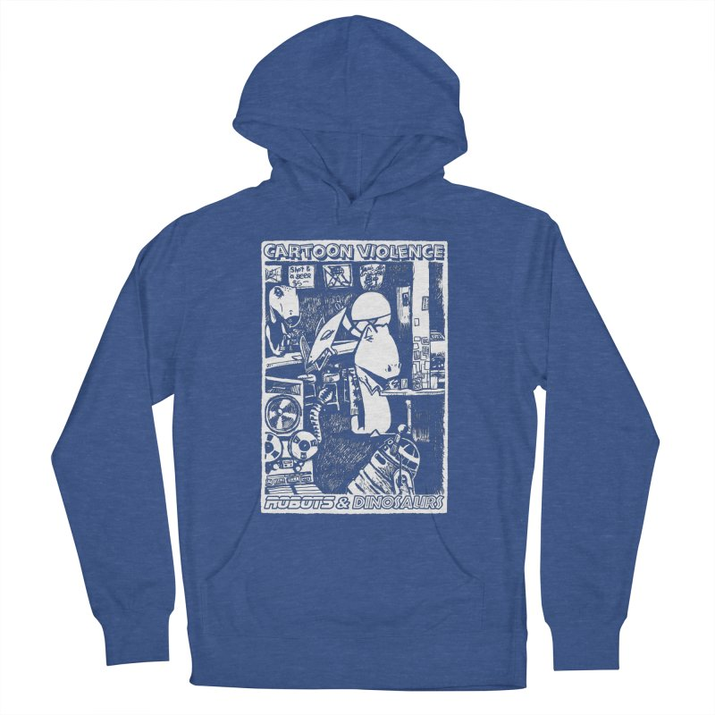 Robots and Dinosaurs (art by Chris Micro) Women's Pullover Hoody by Shirts by Cartoon Violence