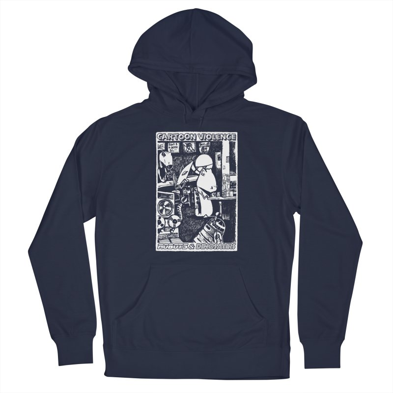 Robots and Dinosaurs (art by Chris Micro) Men's Pullover Hoody by Shirts by Cartoon Violence