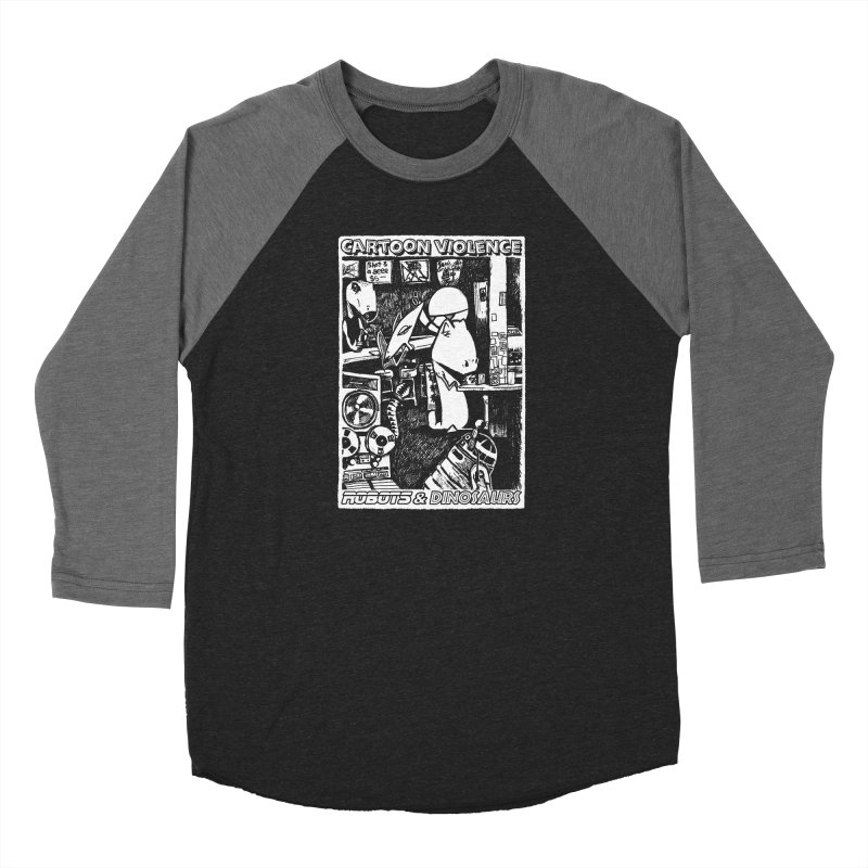 Robots and Dinosaurs (art by Chris Micro) Women's Longsleeve T-Shirt by Shirts by Cartoon Violence