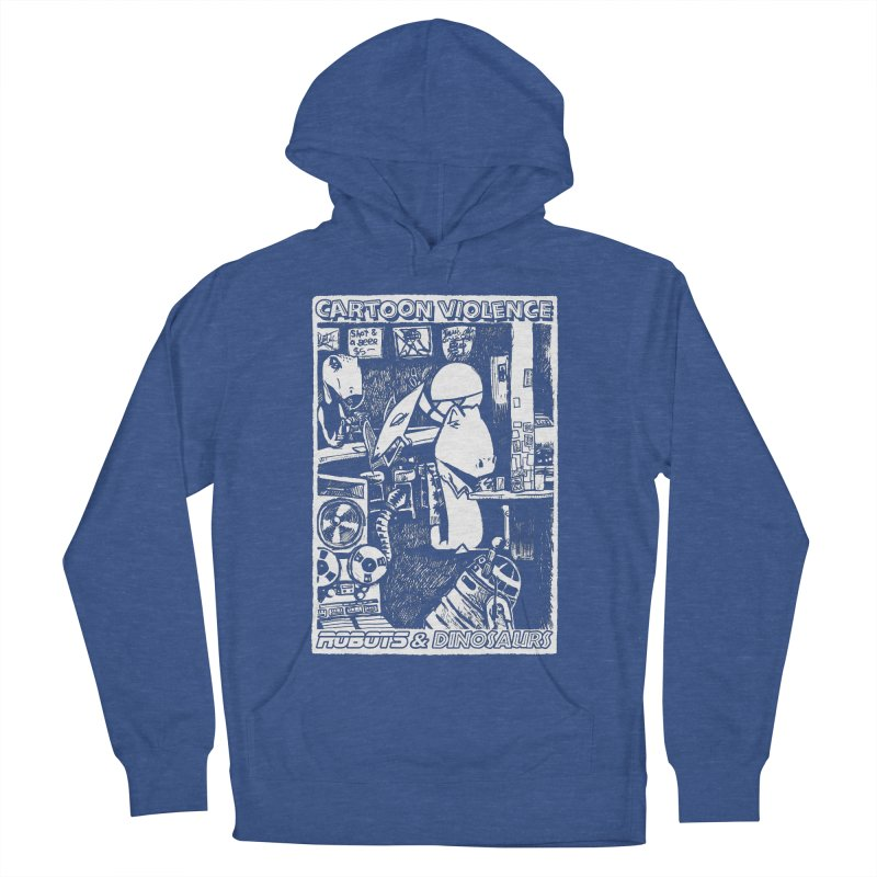 Robots and Dinosaurs (art by Chris Micro) Women's French Terry Pullover Hoody by Shirts by Cartoon Violence