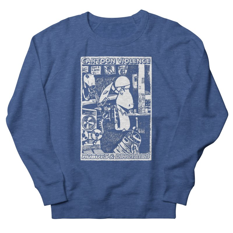 Robots and Dinosaurs (art by Chris Micro) Women's Sweatshirt by Shirts by Cartoon Violence