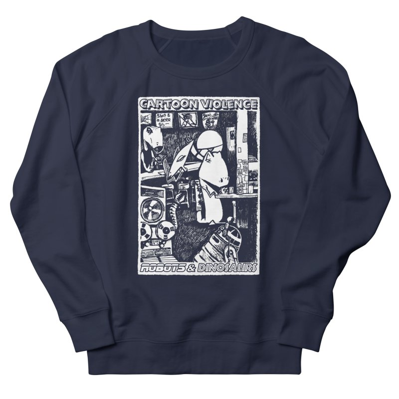 Robots and Dinosaurs (art by Chris Micro) Women's French Terry Sweatshirt by Shirts by Cartoon Violence