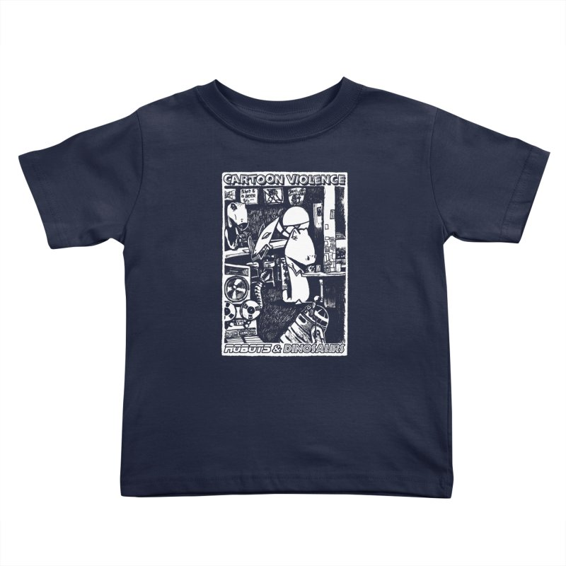 Robots and Dinosaurs (art by Chris Micro) Kids Toddler T-Shirt by Shirts by Cartoon Violence