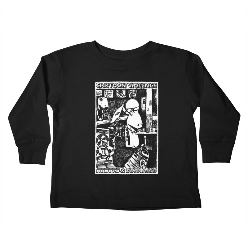 Robots and Dinosaurs (art by Chris Micro) Kids Toddler Longsleeve T-Shirt by Shirts by Cartoon Violence