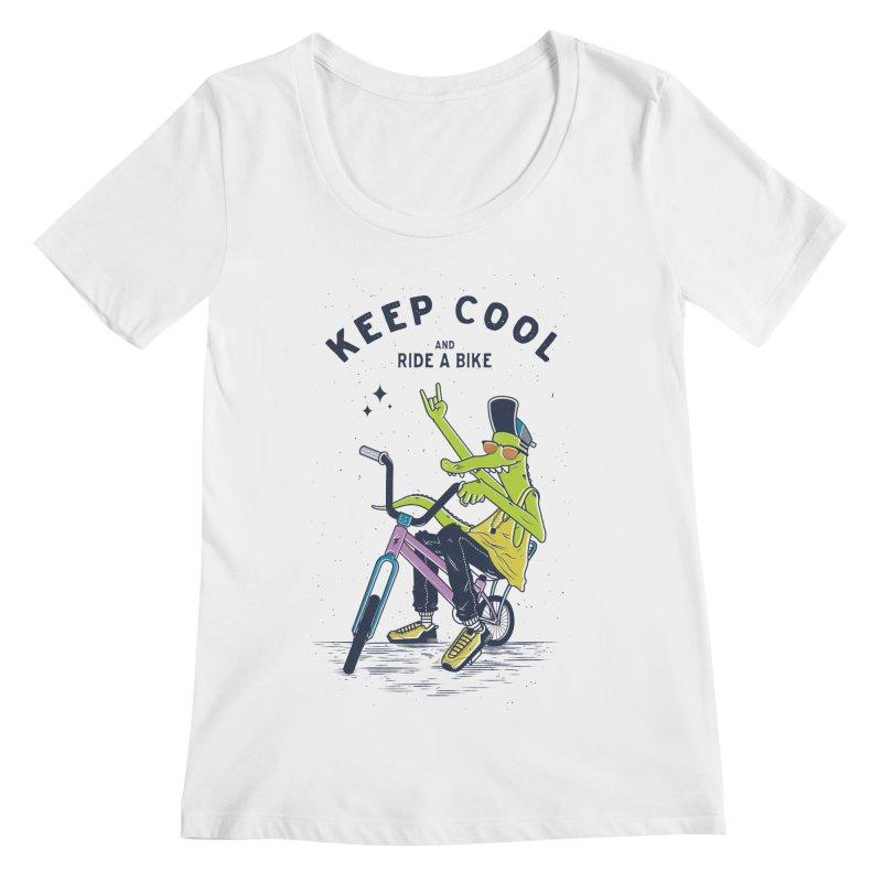 Keep cool Women's Scoopneck by carvalhostuff's Artist Shop