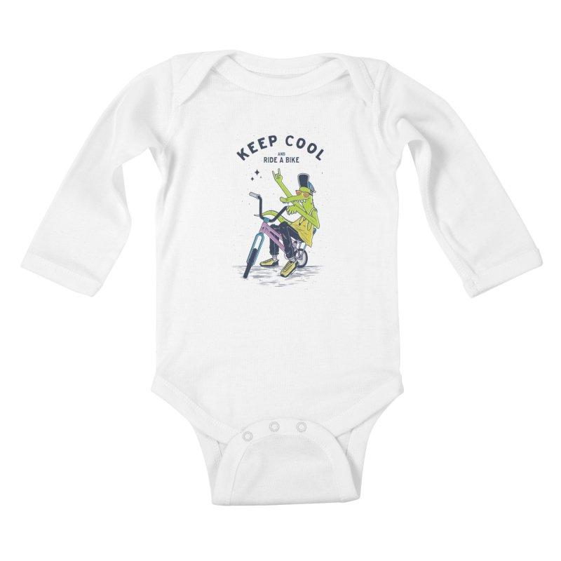 Keep cool Kids Baby Longsleeve Bodysuit by carvalhostuff's Artist Shop