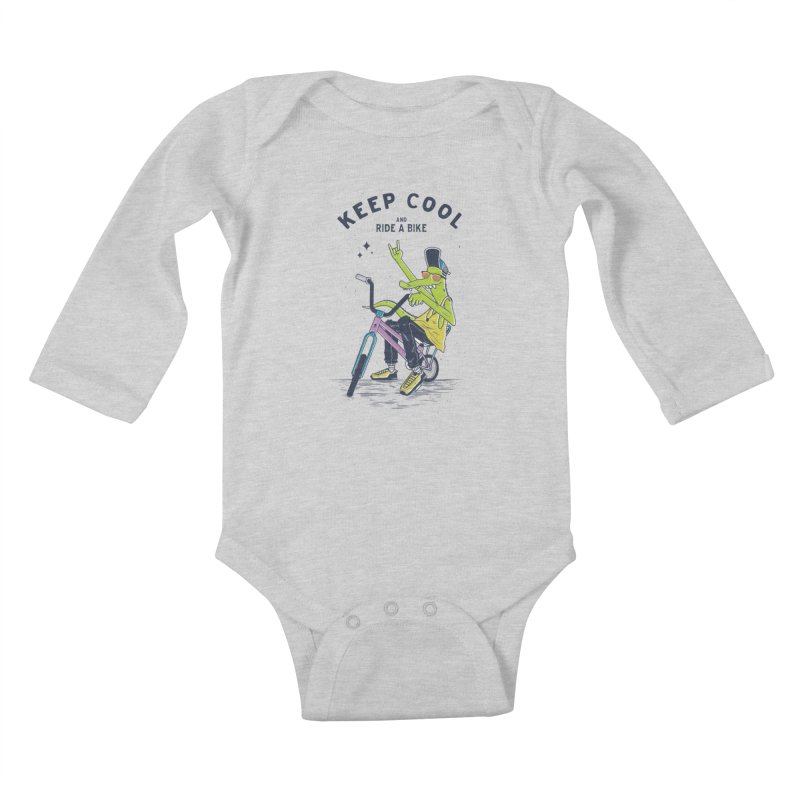 Keep cool Kids Baby Longsleeve Bodysuit by carvalhostuff's Artist Shop