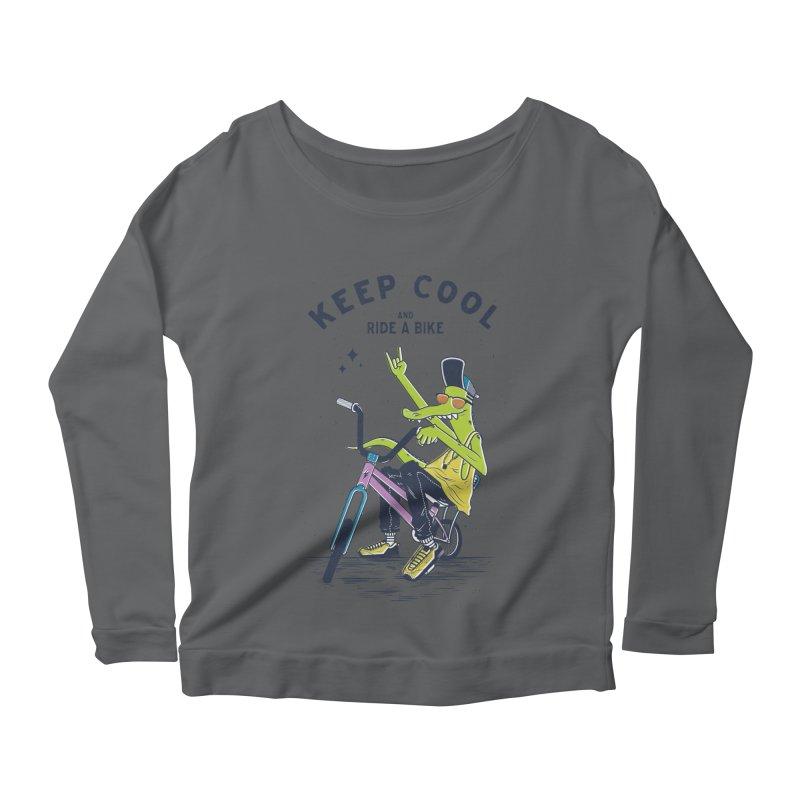 Keep cool Women's Longsleeve Scoopneck  by carvalhostuff's Artist Shop