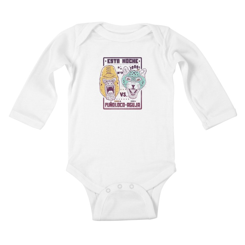 Luchadores Kids Baby Longsleeve Bodysuit by carvalhostuff's Artist Shop