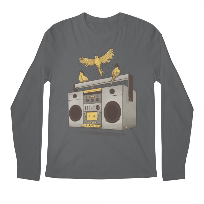 Three little birds Men's Longsleeve T-Shirt by carvalhostuff's Artist Shop