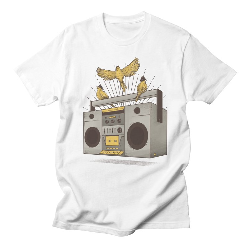 Three little birds Men's T-shirt by carvalhostuff's Artist Shop