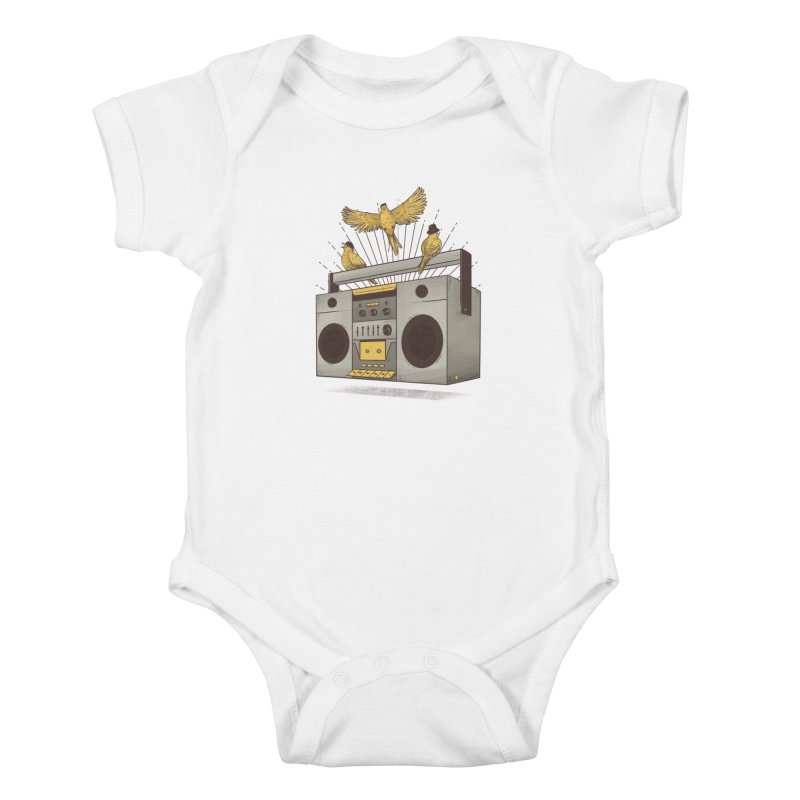 Three little birds Kids Baby Bodysuit by carvalhostuff's Artist Shop