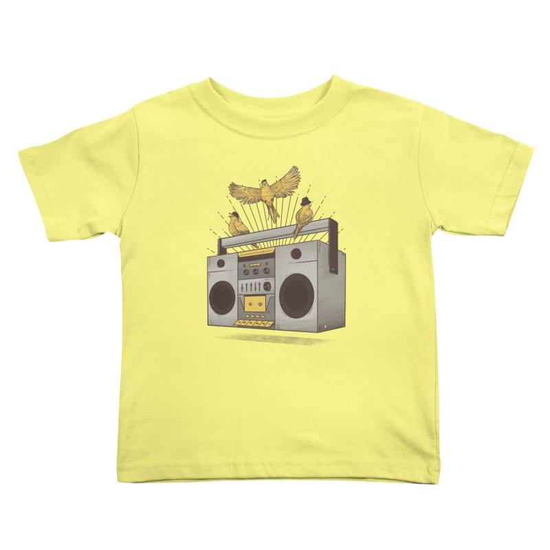 Three little birds Kids Toddler T-Shirt by carvalhostuff's Artist Shop