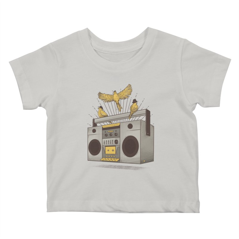 Three little birds Kids Baby T-Shirt by carvalhostuff's Artist Shop
