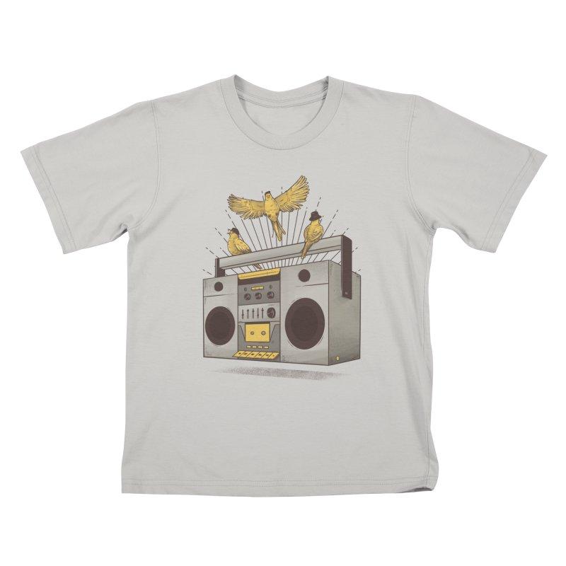 Three little birds Kids T-Shirt by carvalhostuff's Artist Shop