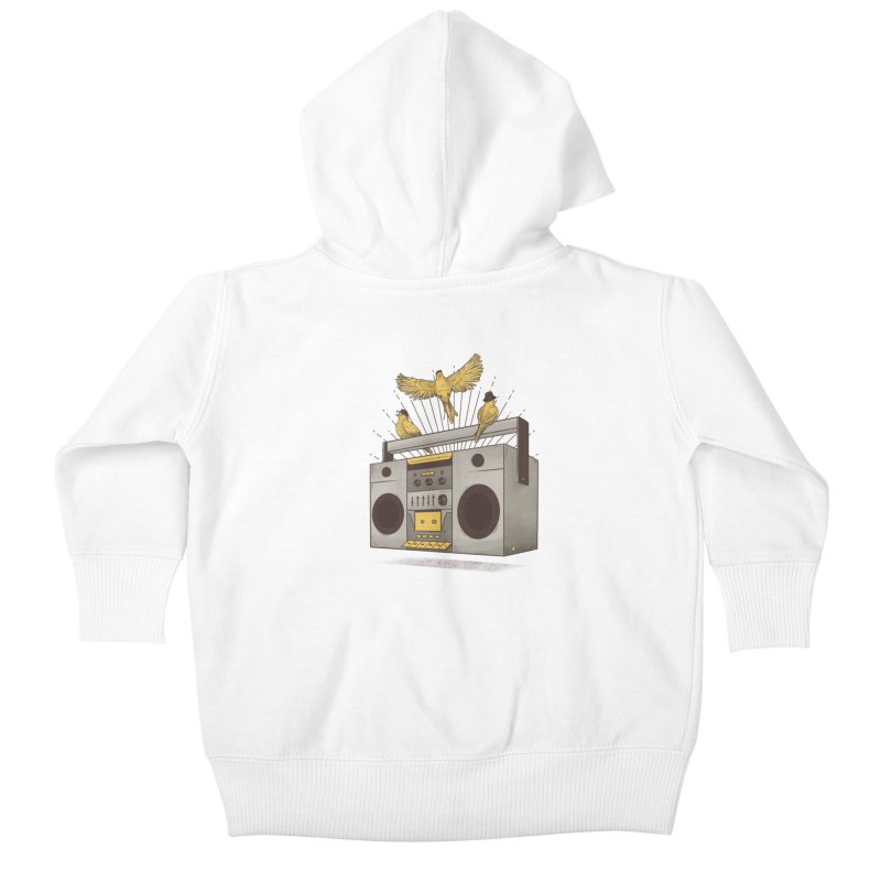Three little birds Kids Baby Zip-Up Hoody by carvalhostuff's Artist Shop