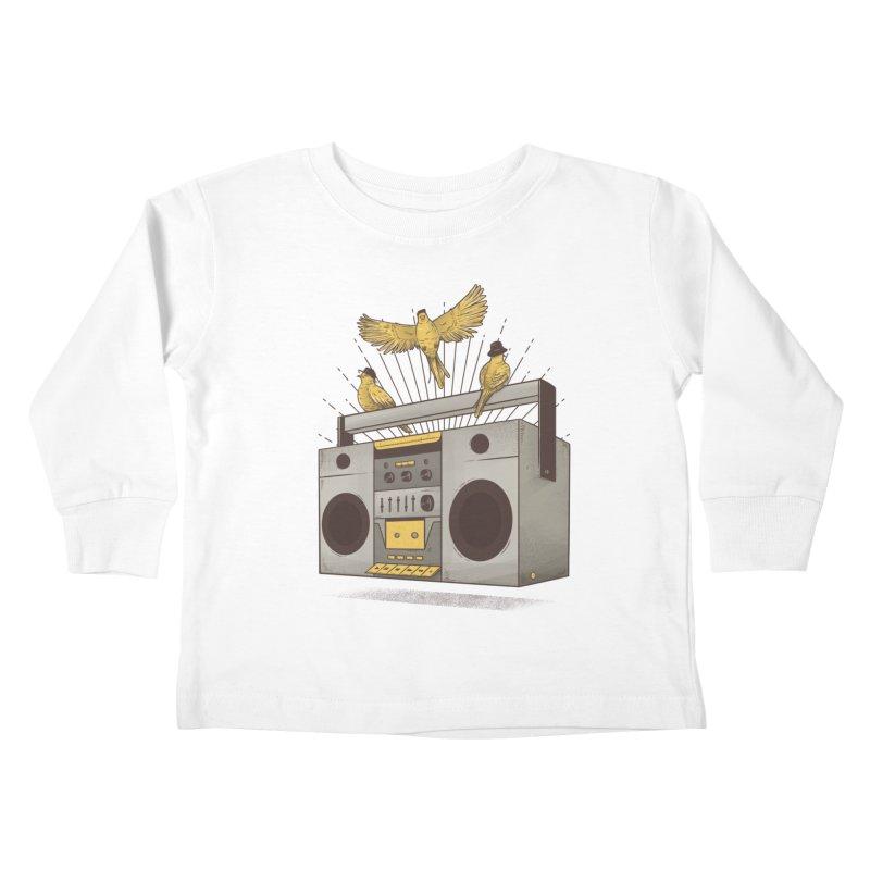 Three little birds Kids Toddler Longsleeve T-Shirt by carvalhostuff's Artist Shop