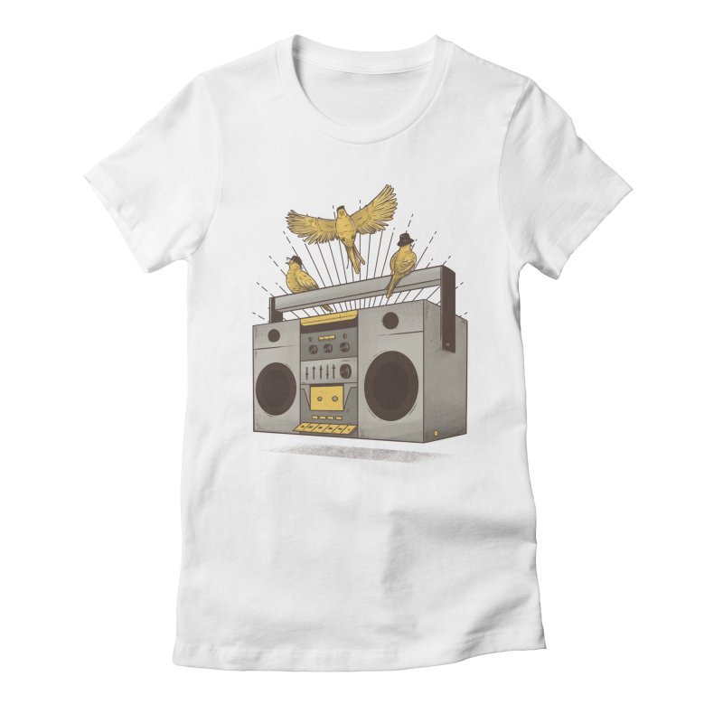 Three little birds Women's Fitted T-Shirt by carvalhostuff's Artist Shop