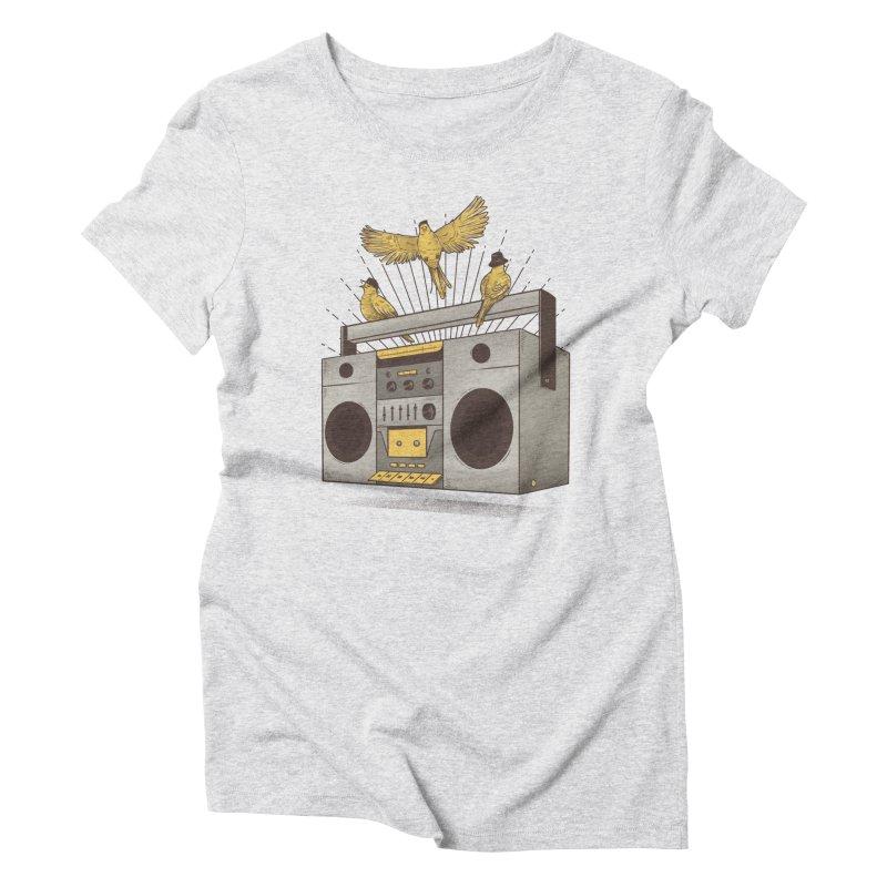 Three little birds Women's Triblend T-shirt by carvalhostuff's Artist Shop
