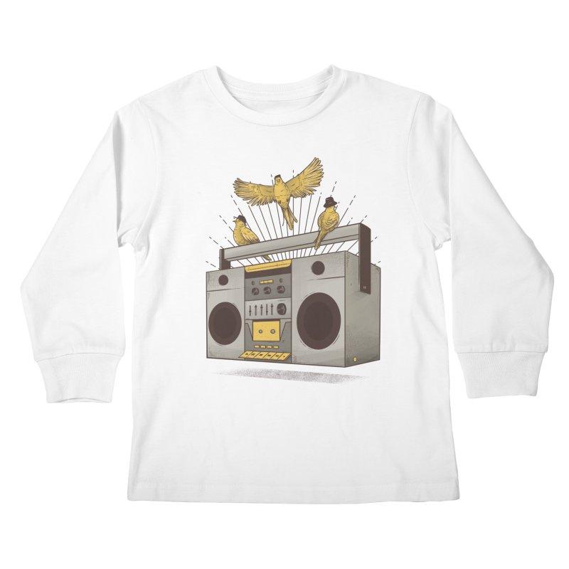 Three little birds Kids Longsleeve T-Shirt by carvalhostuff's Artist Shop