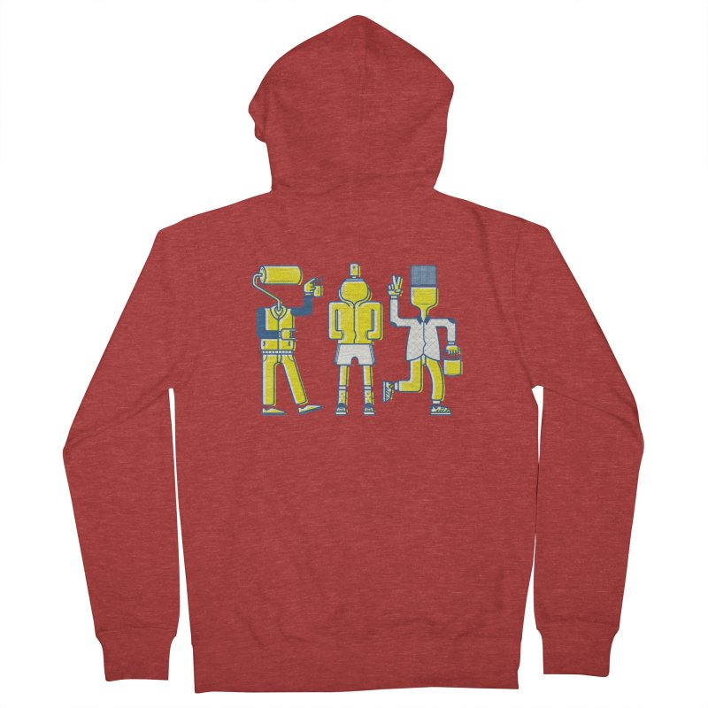 Arround the streets Men's Zip-Up Hoody by carvalhostuff's Artist Shop
