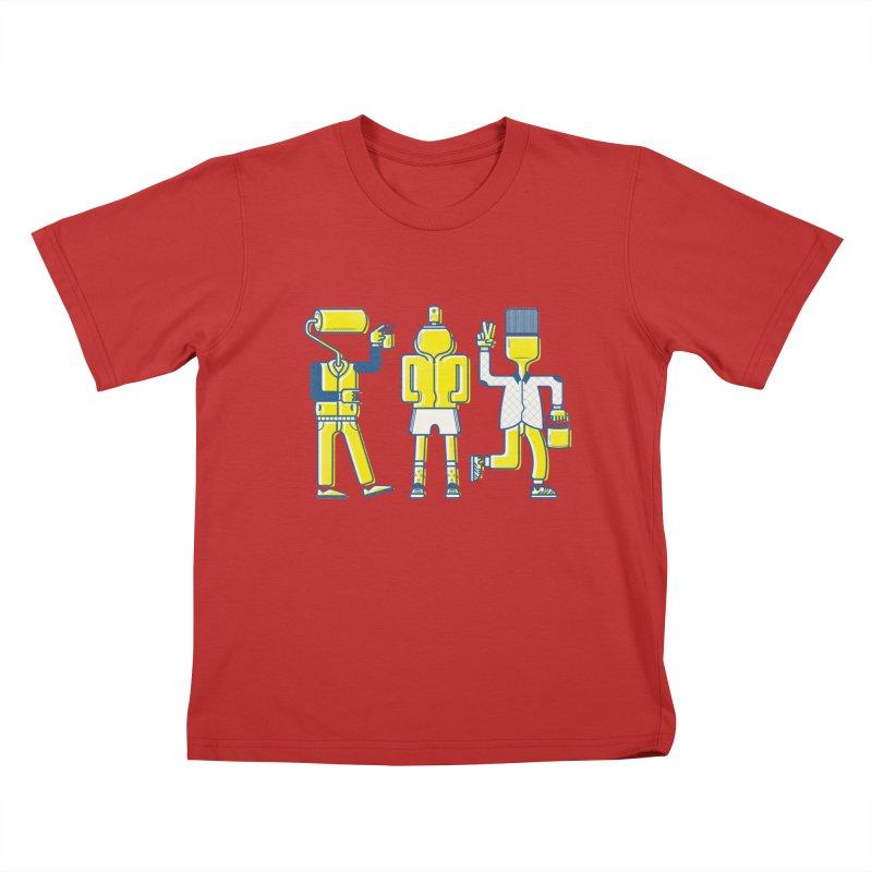Arround the streets Kids T-Shirt by carvalhostuff's Artist Shop