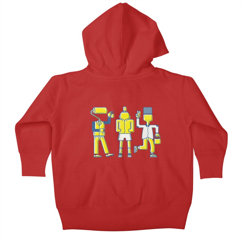 Arround the streets Kids Baby Zip-Up Hoody by carvalhostuff's Artist Shop