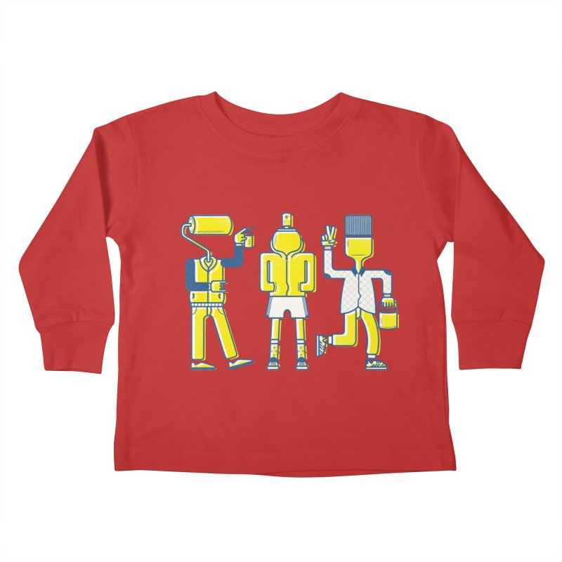Arround the streets Kids Toddler Longsleeve T-Shirt by carvalhostuff's Artist Shop