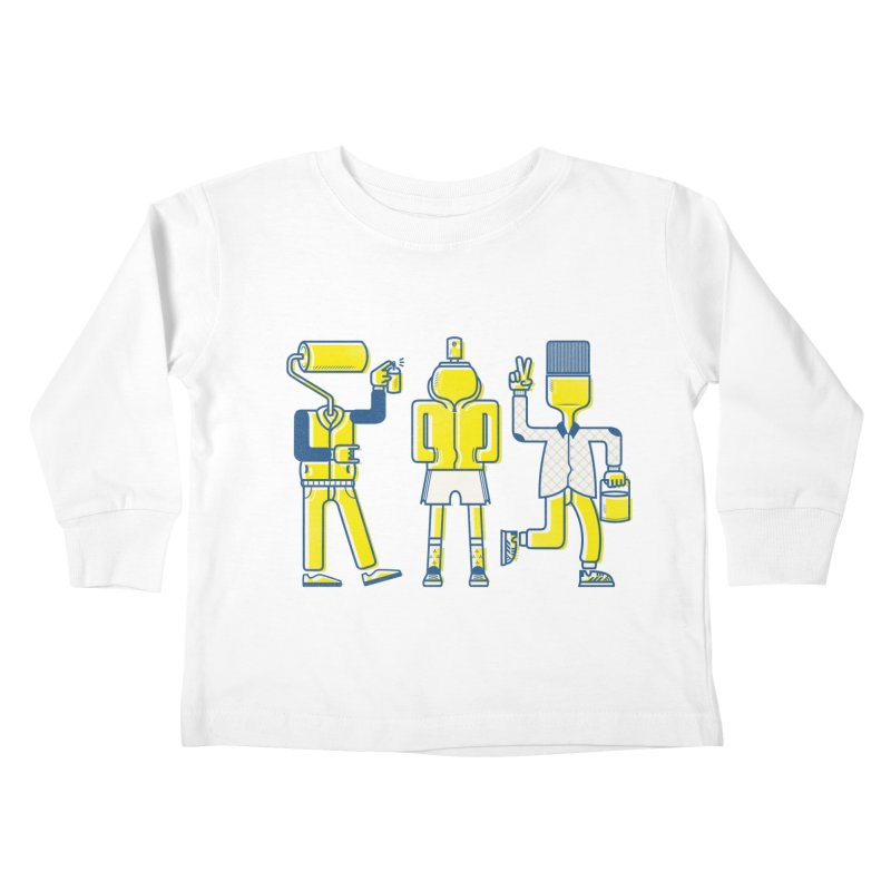 Arround the streets Kids Toddler Longsleeve T-Shirt by carvalhostuff's Artist Shop